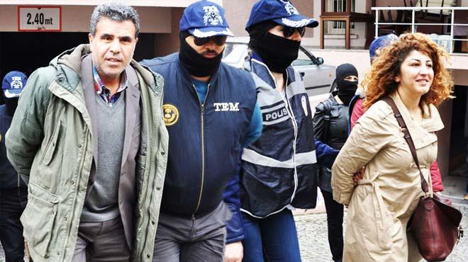 HDP İzmir il eş başkanları 'terörden' tutuklandı