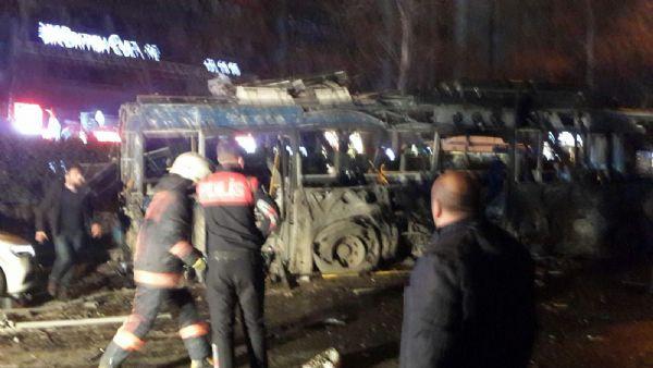 Ankara patlamasından ilk görüntüler