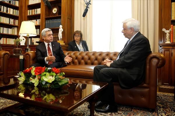 Ermenistan Cumhurbaşkanı Sarkisyan Yunanistan'da