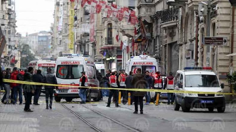 Taksim'de saldırı: 5 ölü, 7'si ağır 36 yaralı