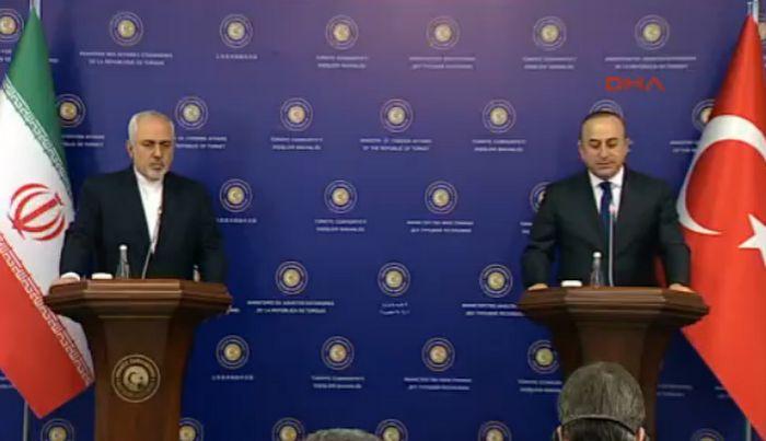 Çavuşoğlu ve Zarif basın toplantısı