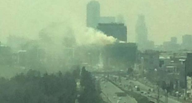 MHP'nin de bulunduğu binada yangın