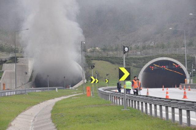 Bolu Dağı Tüneli ulaşıma tek yönlü kapandı