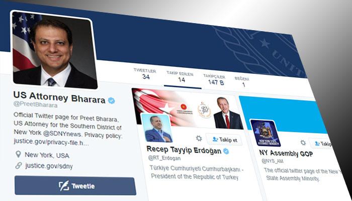 ABD'li savcının Twitter'da takip ettiği tek lider Erdoğan