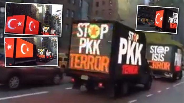 ABD'de 'PKK terörüne hayır' pankartları