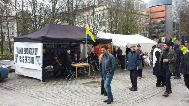Brüksel'de bir çadır da PKK'ya karşı kurulacak