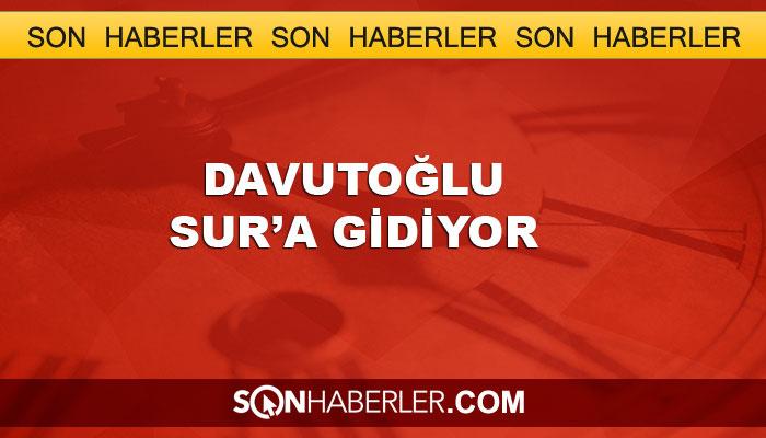 Davutoğlu, Diyarbakır Sur'a gidiyor