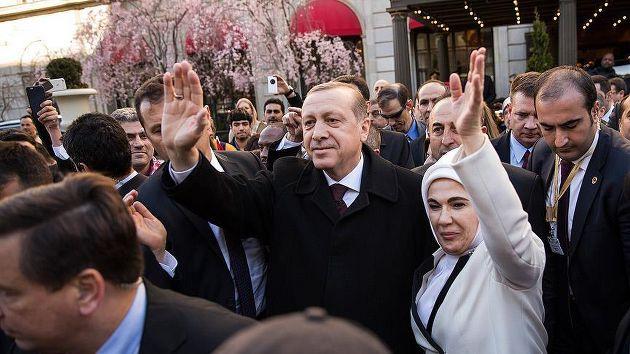 Erdoğan'ı ABD'de sevenleri karşıladı