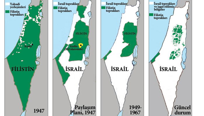 Filistin toprağının yüzde 85'i işgal altında