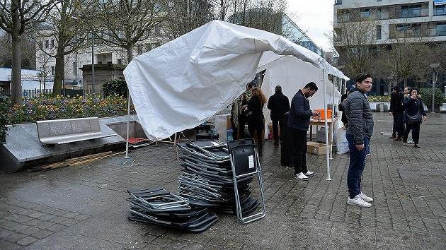PKK'nın Brüksel'deki ikinci çadırı kaldırıldı