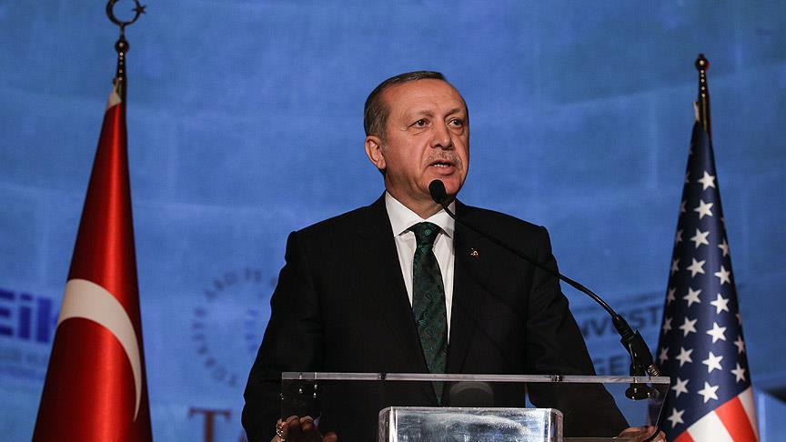 Erdoğan ABD'de konuştu: Teröre izin vermeyiz