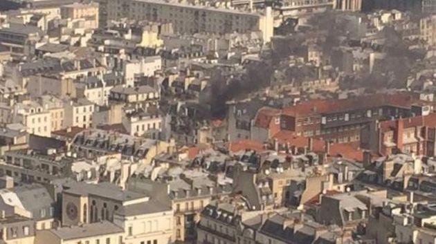 Paris'te korkutan doğalgaz patlaması