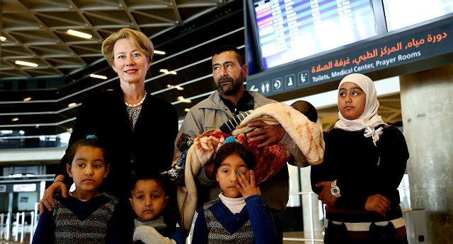 ABD'ye kabul edilen ilk Suriyeli aile