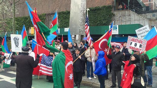 Karabağ işgali ABD'de protesto edildi