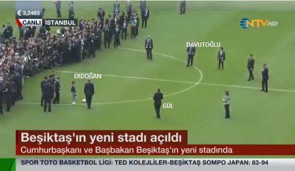 Beşiktaş stadı görkemli törenle açıldı
