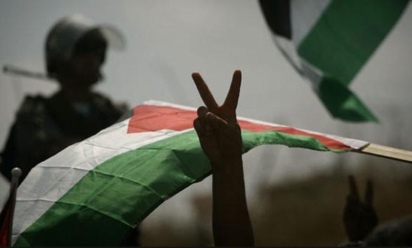 Filistinli tutsaklar için protesto gösterisi