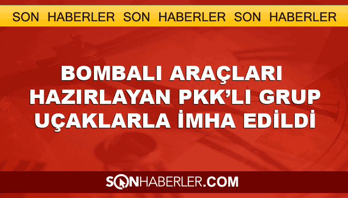 Bombalı araçları hazırlayan PKK'lılar öldürüldü