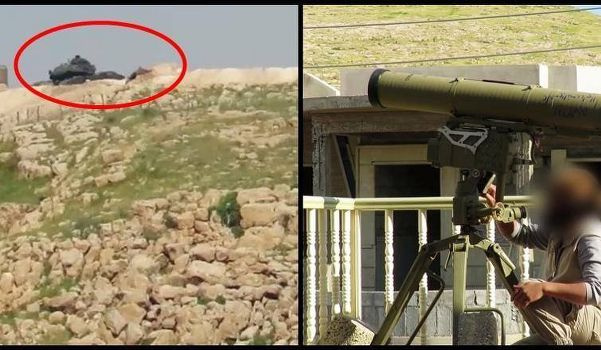 IŞİD Irak Başika'da Türk tankını vurdu