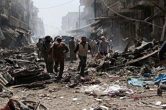 Şam yönetimi sivilleri bombaladı | VIDEO