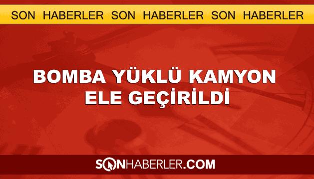 Van Erciş'te bomba yüklü kamyon ele geçirildi