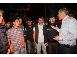 Erdemir Limanı'ndaki taşeron işçiler eylemde
