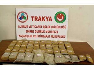 Pazarkule'de 20 kilogram eroin maddesi ele geçirildi