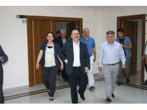 Vali Aydın'dan belediyeye veda ziyareti