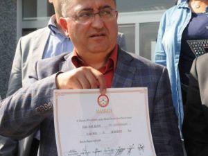 Salman mazbatasını aldı: İnşallah devamı cumhurbaşkanlığı seçiminde gelir