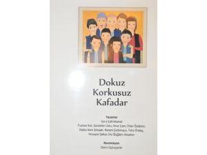 Hastanede tedavi gören çocuklardan 'Dokuz Korkusuz Kafadar' kitabı