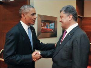 Obama, Varşova'da Poroşenko ile görüştü