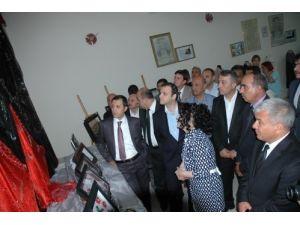 Yerköy Halk Eğitim Merkezi Müdürlüğü kursiyerleri yıl sonu sergisini açtı