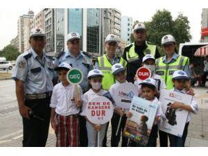 Lösemili çocuklar trafik polisi oldu