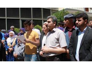 BDP'nin öncülüğünde toplanan bir grup KCK operasyonları tepki gösterdi
