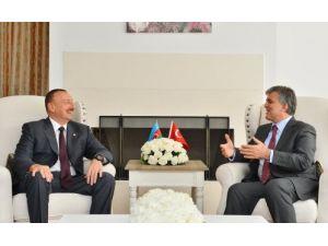 Cumhurbaşkanı Gül, Azerbaycan Cumhurbaşkanı Aliyev ile görüştü