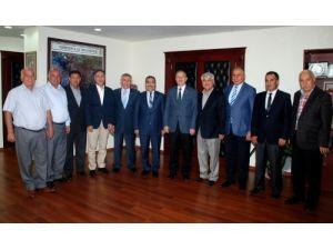 Borsa yönetiminden Başkan Çelikcan'a 'hayırlı olsun' ziyareti