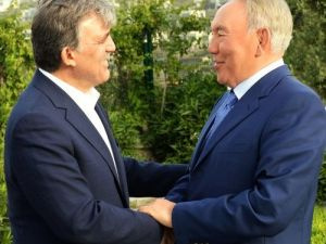 Nazarbayev, Gül ile görüştü