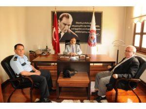 Alaçam Emniyet Müdürü Tanrıkulu, Başkan Şahin'i ziyaret etti