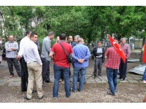Amasya'daki yeşil alan direnişine Türk Eğitim Sen'den destek geldi