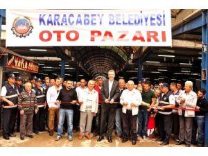Karacabey'de oto pazarı törenle açıldı