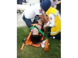 Trafik ışıklarında kaza: 1 yaralı