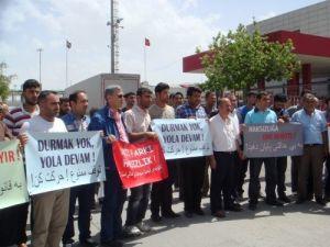 TIR şoförlerinden İran'a yakıt protestosu