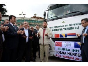 Osmangazi'den Bosna'ya 3 TIR dolusu yardım