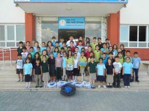 Burçlu öğrenciler çevre temizliği yaptı