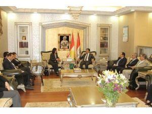 Kürt Yönetimi Meclis Başkanı Muhammed, HDP ve BDP heyeti ile görüştü