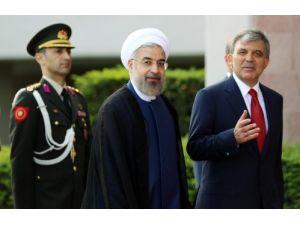 İran lideri Ruhani Çankaya Köşkü'nde