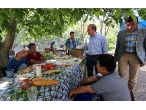 Erzurumlular Tortum Şelalesi'nde piknik yaptı