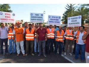 Taşeron işçilerden mahkeme kararının 32 aydır uygulanmamasına tepki