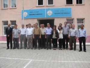 Samsunlu eğitimciler kardeş okul projesi kapsamında Trabzon'a gitti