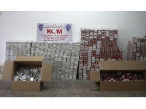 7 bin 260 paket kaçak sigara ele geçirildi