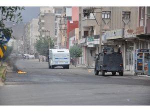 Cizre'deki izinsiz gösteriye polis müdahale etti